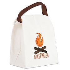 Firestarter Campfire Canvas Lunch Bag