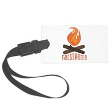 Firestarter Campfire Luggage Tag