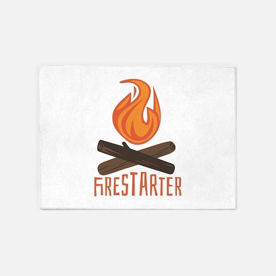 Firestarter Campfire 5'x7'Area Rug