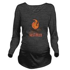 Firestarter Campfire Long Sleeve Maternity T-Shirt