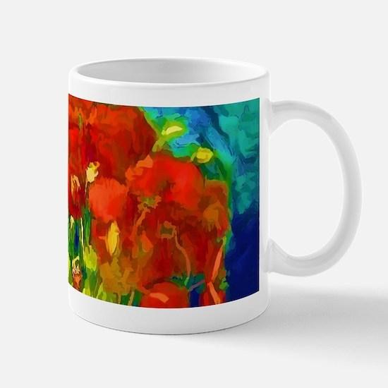 red poppies 2 Mugs