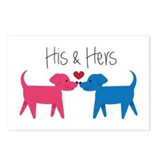 His & Hers Postcards (Package of 8)