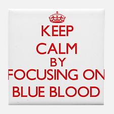 Blue Blood Tile Coaster