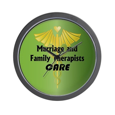 Marriage and Family Therapists Care Wall Clock