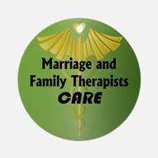 Marriage and Family Therapists Care Ornament (Roun