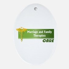 Marriage and Family Therapists Care Ornament (Oval