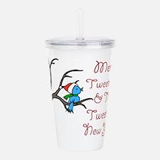 Blue Bird Says Merry T Acrylic Double-wall Tumbler