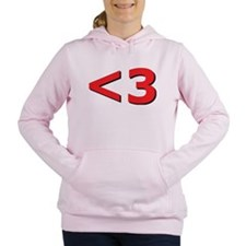 Less than 3 Women's Hooded Sweatshirt
