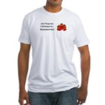Christmas Strawberries Fitted T-Shirt