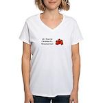 Christmas Strawberries Women's V-Neck T-Shirt