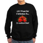Christmas Strawberries Sweatshirt (dark)