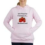 Christmas Strawberries Women's Hooded Sweatshirt