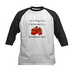 Christmas Strawberries Kids Baseball Jersey