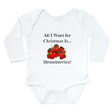 Christmas Strawberries Long Sleeve Infant Bodysuit