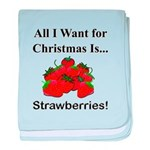 Christmas Strawberries baby blanket