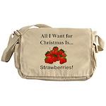 Christmas Strawberries Messenger Bag
