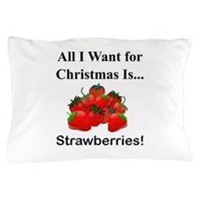 Christmas Strawberries Pillow Case