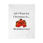 Christmas Strawberries Twin Duvet