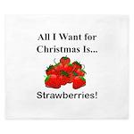 Christmas Strawberries King Duvet