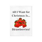 Christmas Strawberries 5'x7'Area Rug