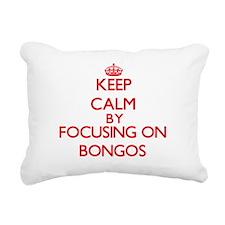 Bongos Rectangular Canvas Pillow