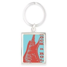 Cute Music Portrait Keychain
