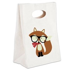 Unique Cute fox Canvas Lunch Tote