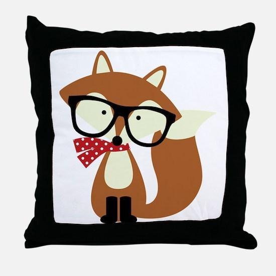 Cool Cute fox Throw Pillow