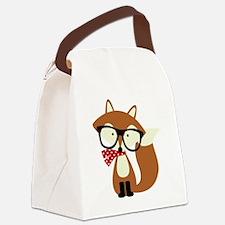 Cute Foxes Canvas Lunch Bag