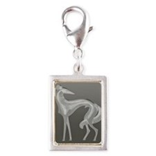 Unique Borzoi Silver Portrait Charm