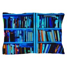 Blue book Shelves Pillow Case