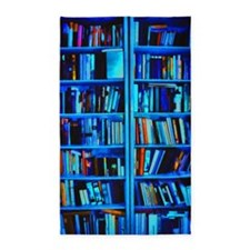 Blue book Shelves 3'x5' Area Rug