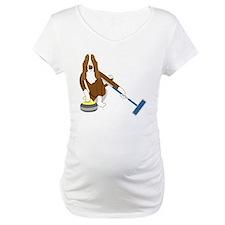 Basset Hound Curling Shirt