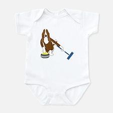 Basset Hound Curling Infant Bodysuit