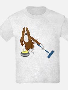 Basset Hound Curling T-Shirt