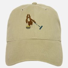 Basset Hound Curling Baseball Baseball Cap