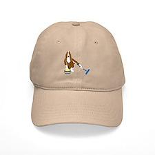 Basset Hound Curling Baseball Cap