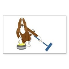 Basset Hound Curling Decal