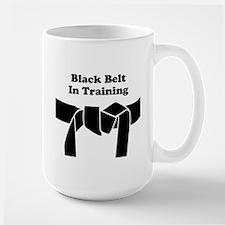 Martial Arts Black Belt Large Mug