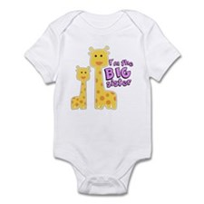 Big Sister Giraffe Infant Bodysuit