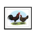 Redcap Fowl Framed Panel Print