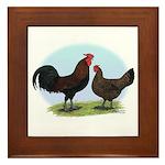 Redcap Fowl Framed Tile