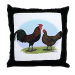 Redcap Fowl Throw Pillow