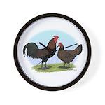 Redcap Fowl Wall Clock