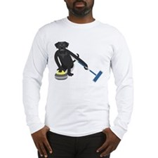Black Lab Curling Long Sleeve T-Shirt