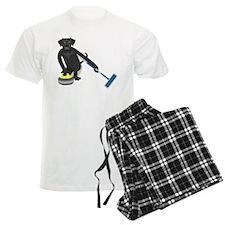 Black Lab Curling Pajamas