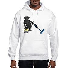 Black Lab Curling Hoodie