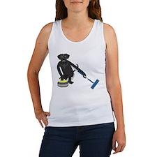 Black Lab Curling Women's Tank Top
