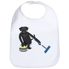 Black Lab Curling Bib