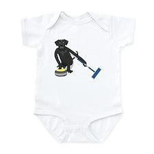 Black Lab Curling Infant Bodysuit